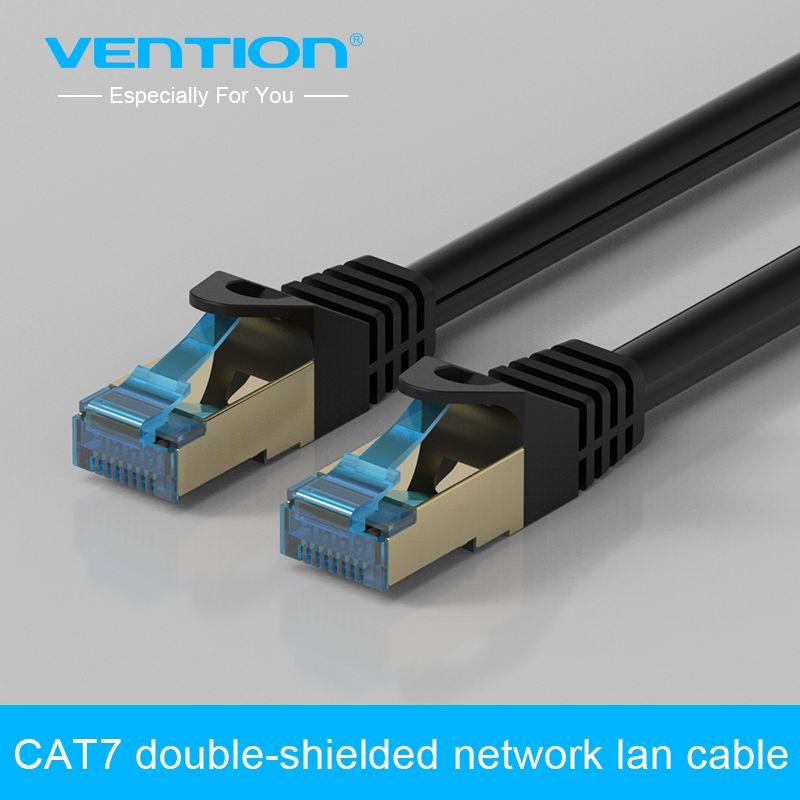 Convention Haute Vitesse CAT7 RJ45 Patch Ethernet LAN Câble Réseau Câble 0.75 m/1 m/1.5 m/2 m/3 m/5 m pour Routeur Commutateur Ordinateur Portable