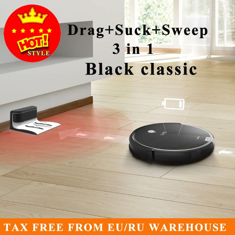 2017 Hot Sale Original X623 Smart Robot Vacuum Cleaner Cleaning Appliances 300ML Water Tank Wet Clean free shipping