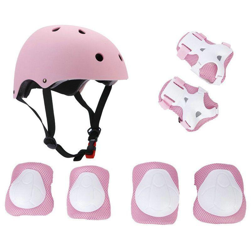 LANOVA 7 pcs/ensemble De Protection Gear Set Enfants Genouillères Coudières Poignet Protecteur Protection casque pour Scooter Vélo Patin À Roulettes