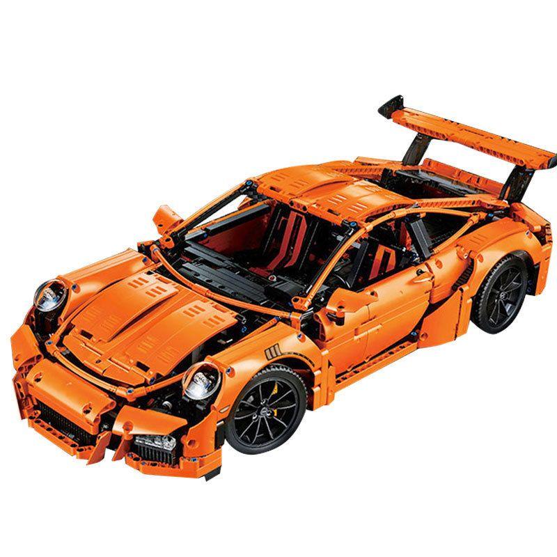 LEPIN 20001 technic series Compatible 42056 Race Car Model Building Kits Blocks Bricks Boys Gifts Educational DIY Toys For Kid