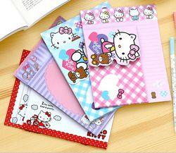 Mignon de Bande Dessinée Bonjour Kitty Kraft Lettre Papier avec Enveloppe Lettre Pad Cadeau Papeterie École de Fournitures de Bureau