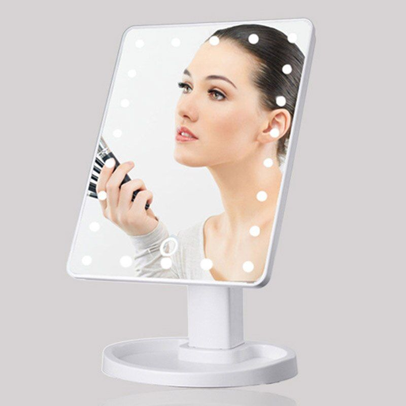 Mirrors 360 Degrees <font><b>Rotation</b></font> Makeup Mirror Adjustable 16/22 Leds Lighted LED Touch Screen Portable Luminous Cosmetic Mirrors