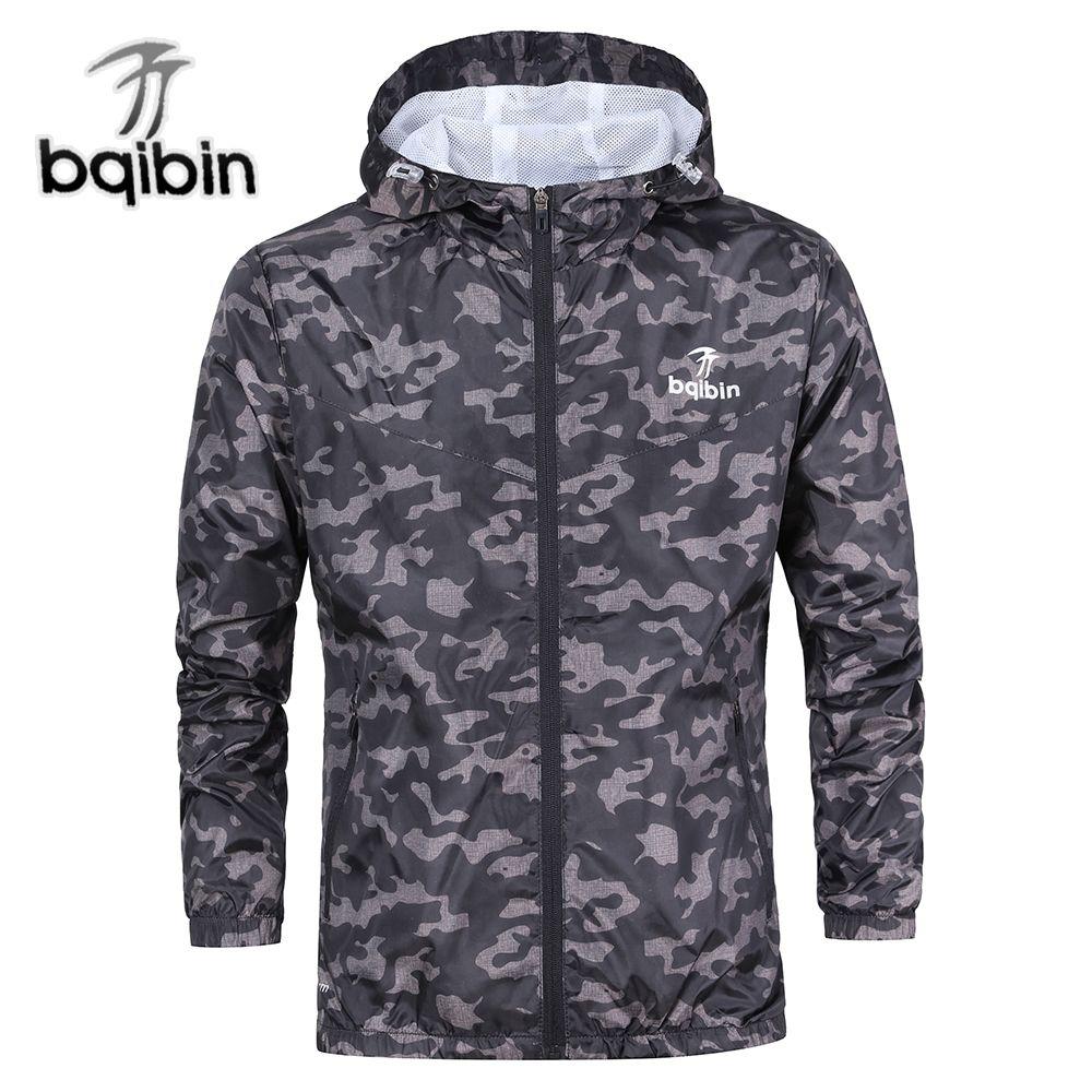 3XL más tamaño 2018 primavera otoño mens casual camuflaje sudadera hombres ropa impermeable cazadora de abrigo hombres Outwear