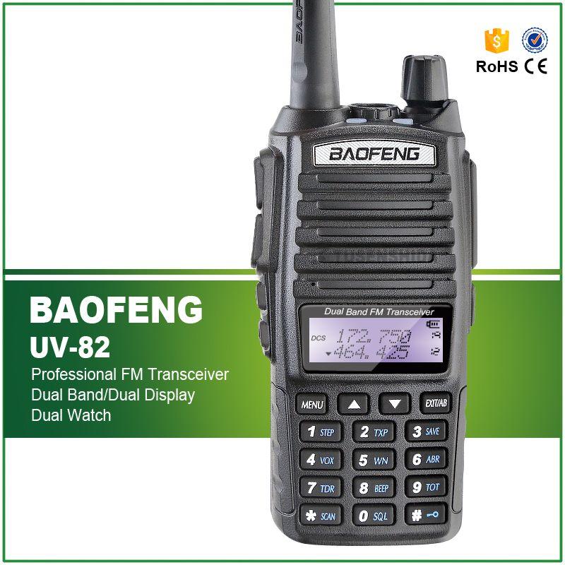 Marque Nouvelle 100% Usine Tout Neuf Autorisé BAOFENG UV-82 Double Bande UHF/VHF136-174/400-520 mhz 2 radio bidirectionnelle + Double PTT Casque