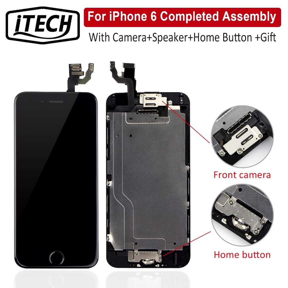 Grade AAA+++ For iPhone 6 6S Plus LCD Completed With Camera Home Button Screen Replacement Full Assembly Display Guarantee