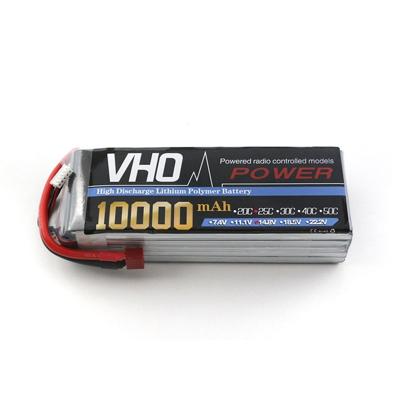VHO 14.8V 4s Lipo battery 10000mAh 30C max 25C Xpower XT60/T/ EC5/XT90 plug for rc drone Helicopter Airplane parts