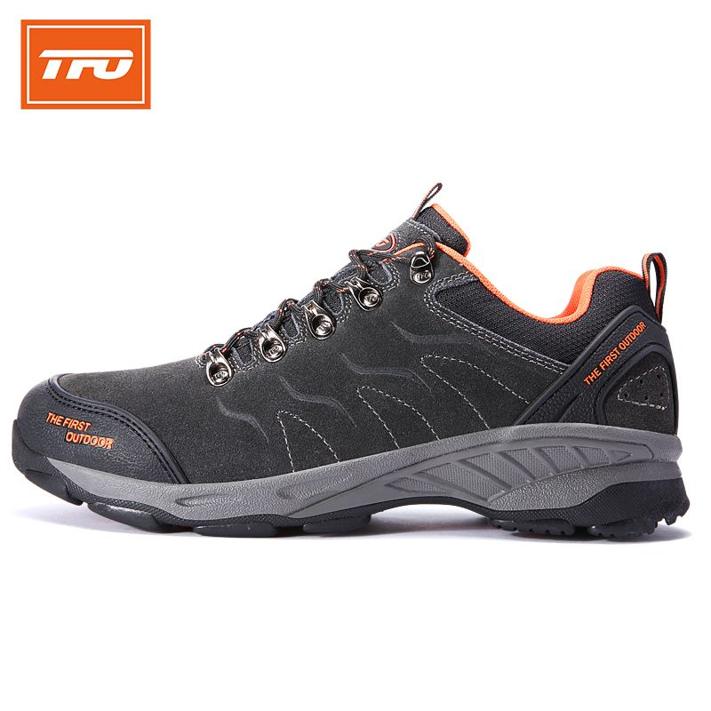 TFO Hiking Shoes Men Waterproof Outdoor Sneakers Climbing Sports hiking shoes genuine leather breathable shoes