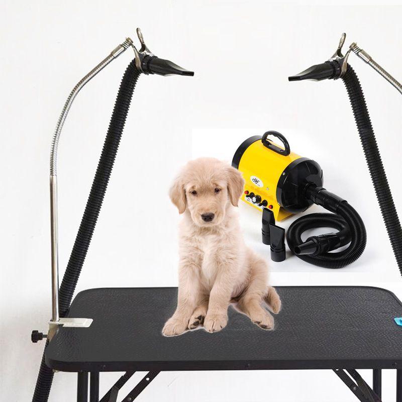 Hundepflege Tisch Haustiere Bade Schönheit Haartrockner Halterung Clip, 360 Grad Eingestellt Metallschlauch, Edelstahl halterung