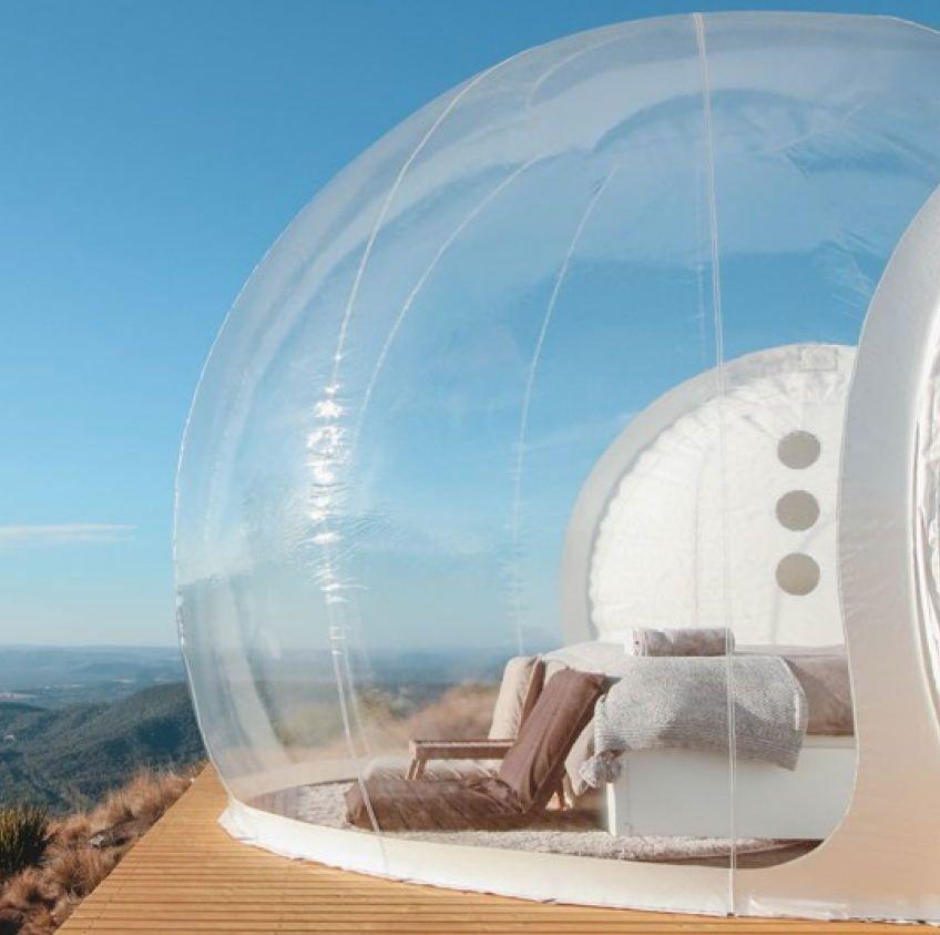 Aufblasbare blase zelt spielzeug zelt Outdoor Camping DIY Haus Dome Camping Lodge Air Blase
