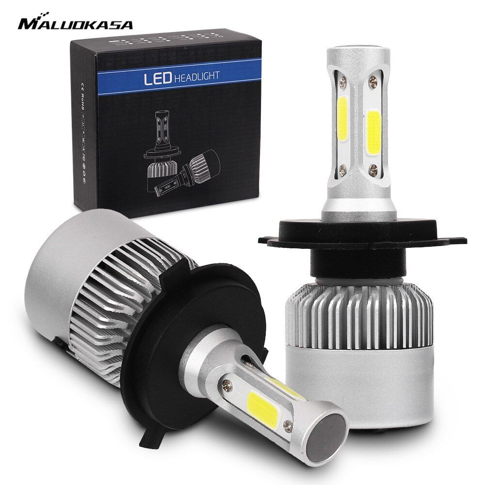 MALUOKASA 2 PCs S2 H7 H4 LED Ampoule Voiture Phare H11 H1 H13 H3 H27 9005/HB3 9006/HB4 9007 Salut-Lo Faisceau 72 W 8000LM Auto Projecteur Led