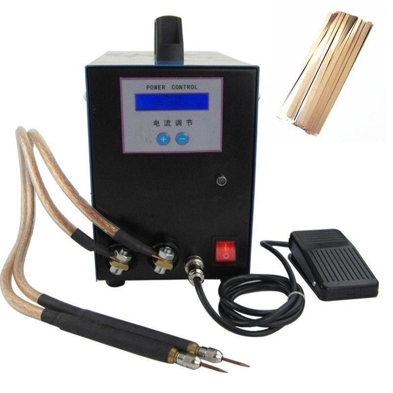18650 high-power batterie spot schweißen 6KWA 220 v handheld schweißen maschine Mit 100 stücke nickel stahl blatt