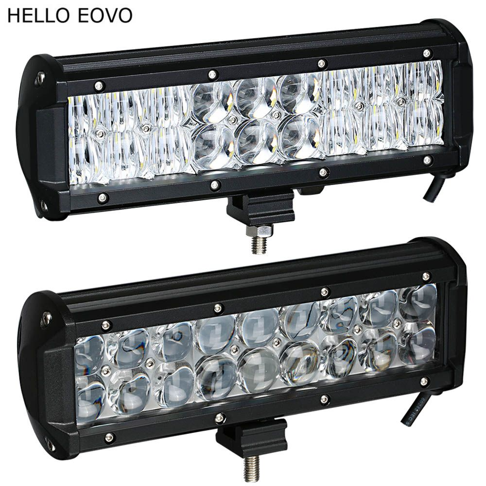 HELLO EOVO Real Power 4D 5D 9.5 Inch LED Light Bar for Work Indicators Driving Offroad Boat Car Tractor Truck 4x4 SUV ATV