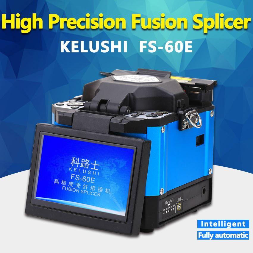 KELUSHI FS-60E FTTH Automatische Optische Faser Hohe Präzision Fusion Splicer Maschine Elektrode Schweißen Spleißen Maschine Blau