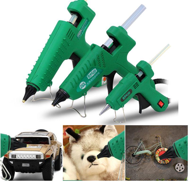 LAOA 25 W/100 W Pistolet à colle thermofusible une colle Mini pour métal bois travail bâton papier épingle à cheveux PU fleurs avec prise EU