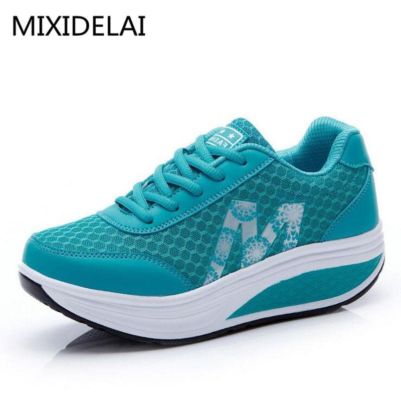 MIXIDELAI 2019 nouveau été Zapato femme respirant maille Zapatillas chaussures pour femmes réseau doux chaussures plates EUR taille 35-40