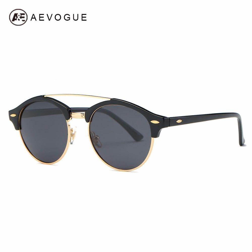 AEVOGUE lunettes de Soleil Polarisées Hommes Classique Rétro Style D'été Marque Designer Unisexe Steampunk Lunettes de Soleil UV400 AE0504