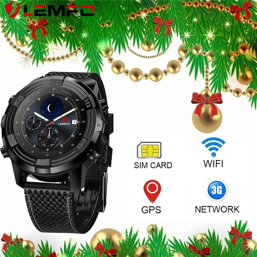 LEMFO LEM6 Bluetooth 4.0 Smart Watch Android 5.1 16GB SIM Card Waterproof Gps Watches Running Smart Watch Android 2017