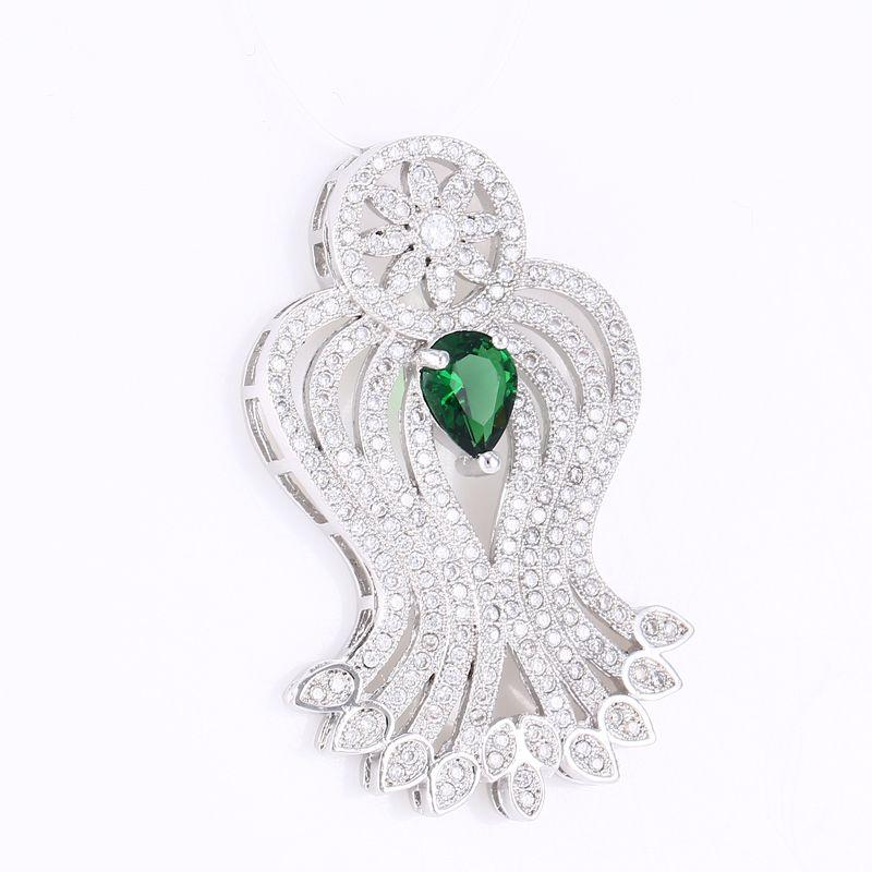 Bijoux à bricoler soi-même fournitures Micro Pave flottant connecteur pendentif accessoires pour femmes perles naturelles perles gland collier bricolage fabrication