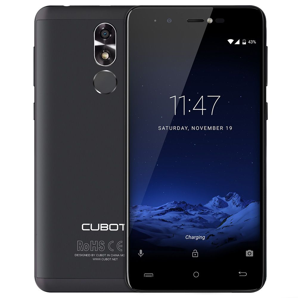<font><b>CUBOT</b></font> R9 3G Android 7.0 Smartphone 2GB RAM 16GB ROM Quad Core Mobile Phone 13.0MP AF Flashlight + Front Camera 5.0MP Cell Phone
