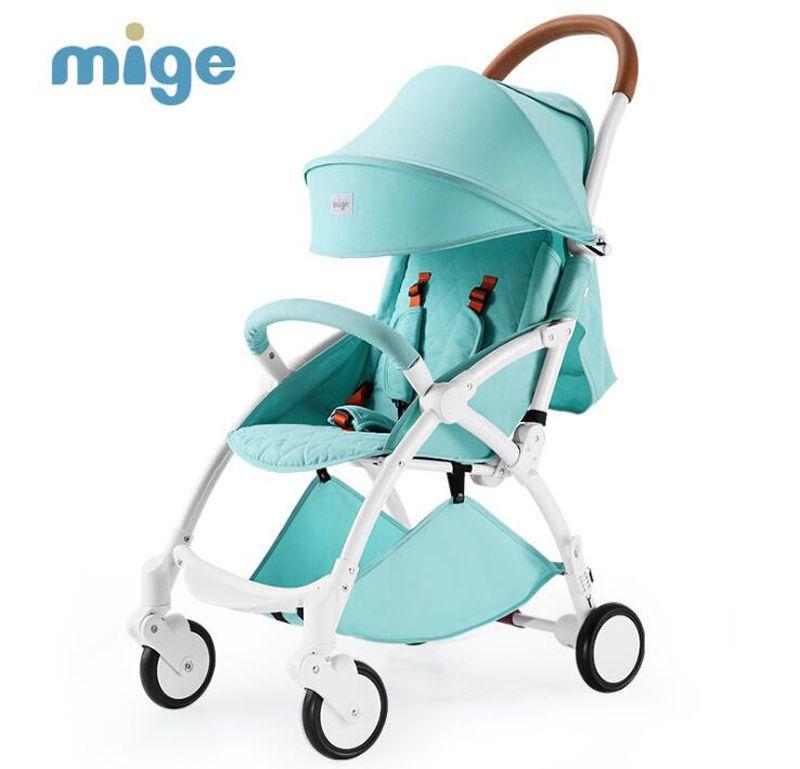 mige strollers lightweight umbrella folding stroller reclining baby children trolley portable Summer