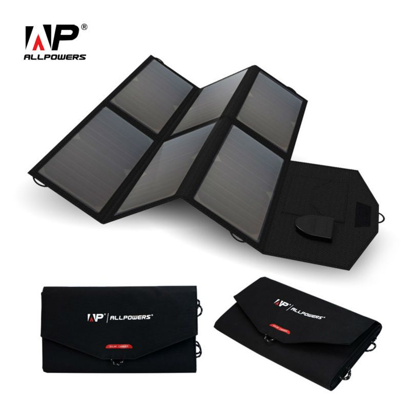 ALLPOWERS Tragbare Solar Panel Solar Batterie 5 V 12 V 18 V Multi verwenden für iPhone Samsung iPad 12 V Autobatterie 18 ~ 19 V Laptops etc.