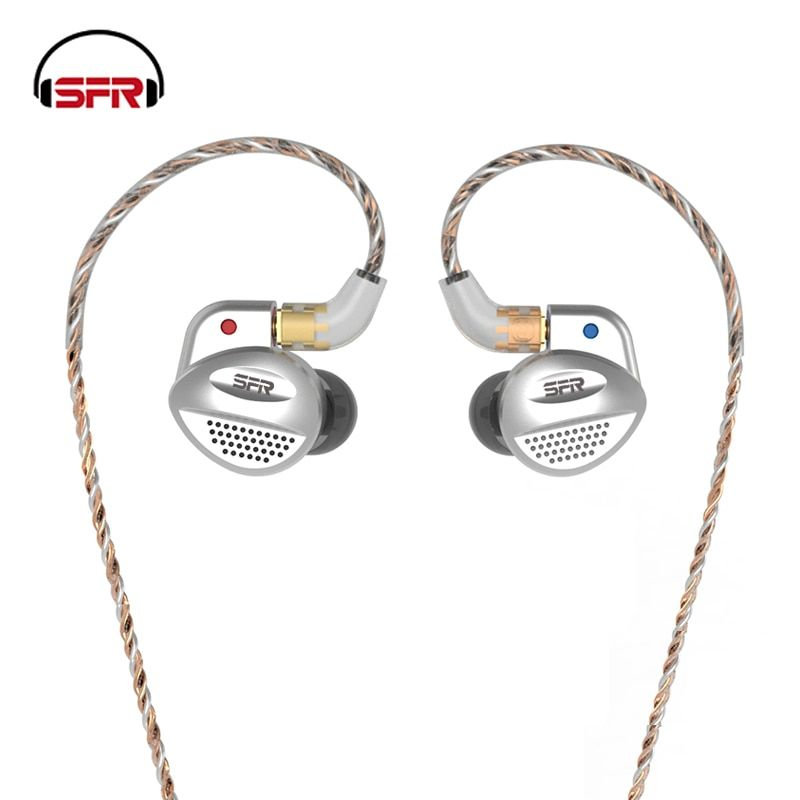 SENFER MT100 1BA + 1 Orthodynamic Planar Diaphragm Hybrid Unit In Ear Earphone Detachable Detach MMCX Cable HIFI Metal Earphone
