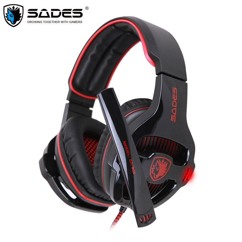 Sades SA-903 Gaming Headset Best casque 7.1 Surround Sound USB Wired Headphones with Microphone Volume Control for PC Gamer