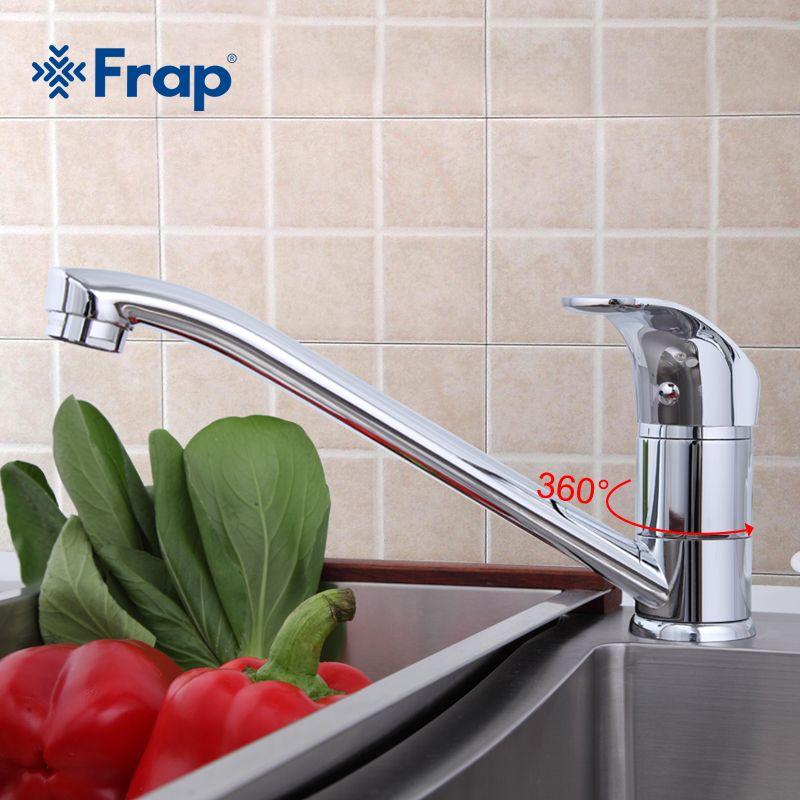 Frap Küche messing wasserhahn einhebelmischer heißen und kalten wasserhahn modernes design hohe qualität chrom F4836