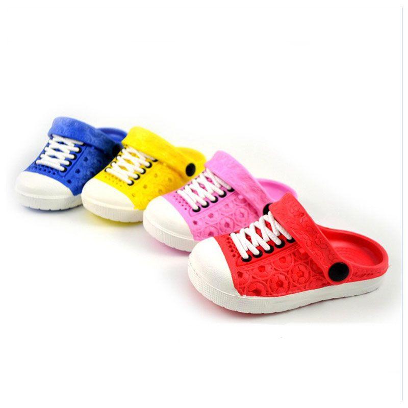 2017 новые летние детские мальчики девочки сандалии мягкие Сабо дышащая обувь тапочки детские 4 вида цветов