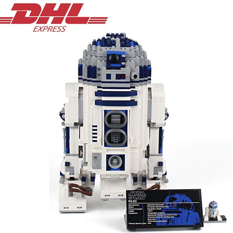 LELE 35009 2127Pcs <font><b>Star</b></font> Wars Figures The R2-D2 Robot Model Building Kits Blocks Bricks Toys For Children Compatible With 10225