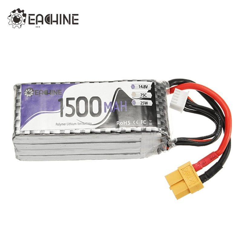 Original Eachine Wizard X220S FPV Racer Spare Part 4S 14.8V 1500mAh 75C Battery XT60 Plug Connector For RC Racing Accessories