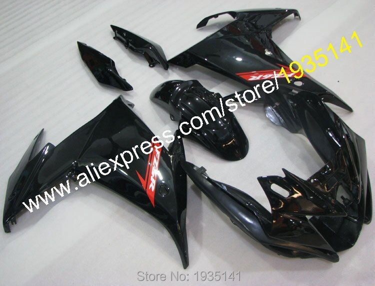 Hot Sales,Cowling For Yamaha FZ6 FZ6R 2009 2010 2011 2013 ABS Parts FZ 6R FZ 6 FZ-6R black Motorcycle Aftermarket kit Fairing