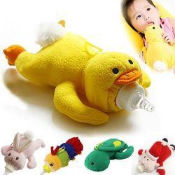 Baby Feeding Milk Bottle Thermos Bag Bebe Animal Plush Toys Milk Warmer Bag Bolsa botella Termica Thermos Bag Baby Bottle Holder