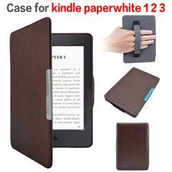 Leder abdeckung fall mit magnet verschluss funda für Amazon Kindle Paper 1/2 mit + screen protector + stylus stift