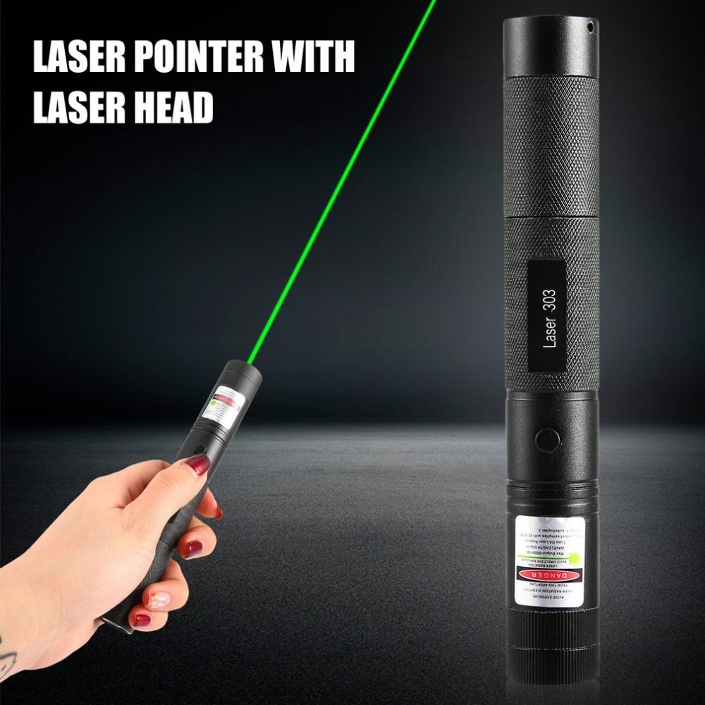 Powerful SD Laser 303 Adjustable Focus 532nm Green Laser Pointer Light Output power less than 1mw !no battery