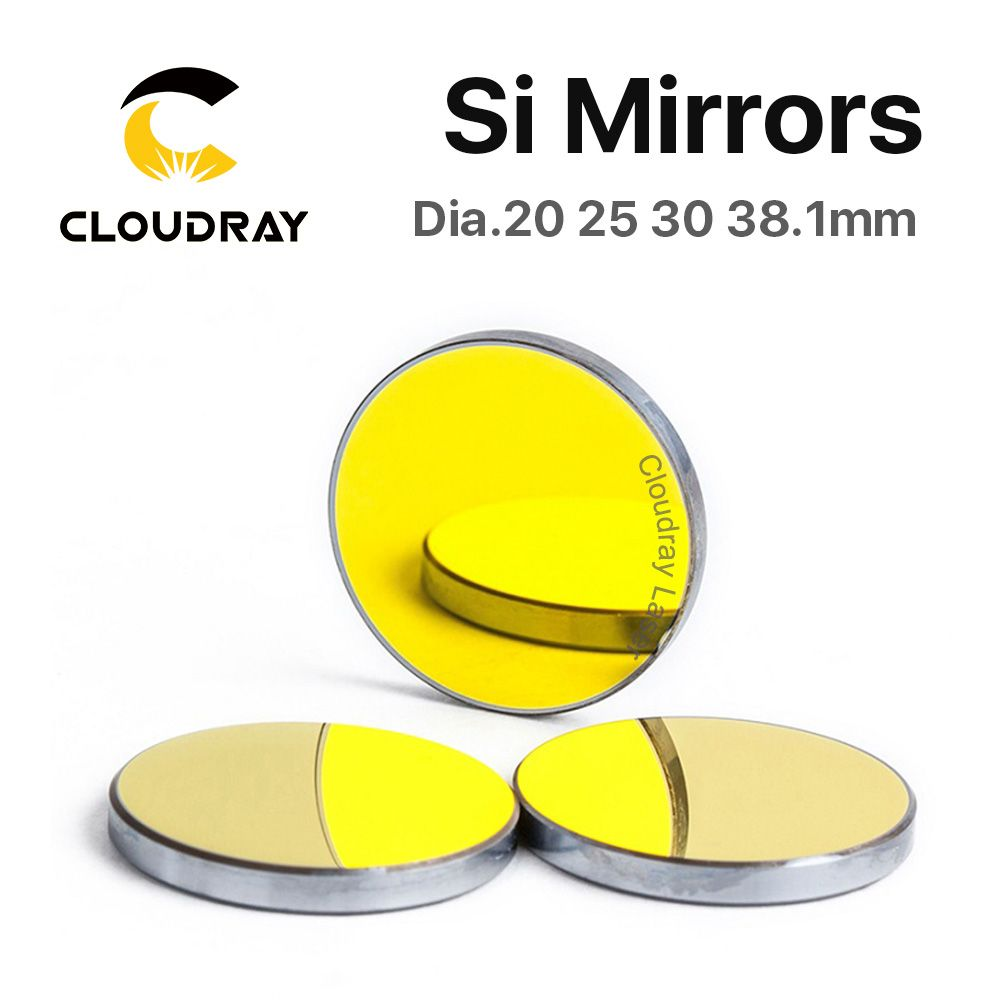 Si Mirror Dia. 19 20 25 30 38.1 mm Gold-Plated Silicon for CO2 Laser Engraving Cutting Machine Free Shipping