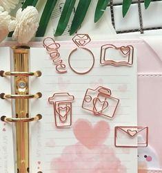 TUTU envío gratis oro rosa Clips Bookmark Planner herramientas Herramientas Scrapbooking Memo Clip de Metal carpeta Paperclip H0137