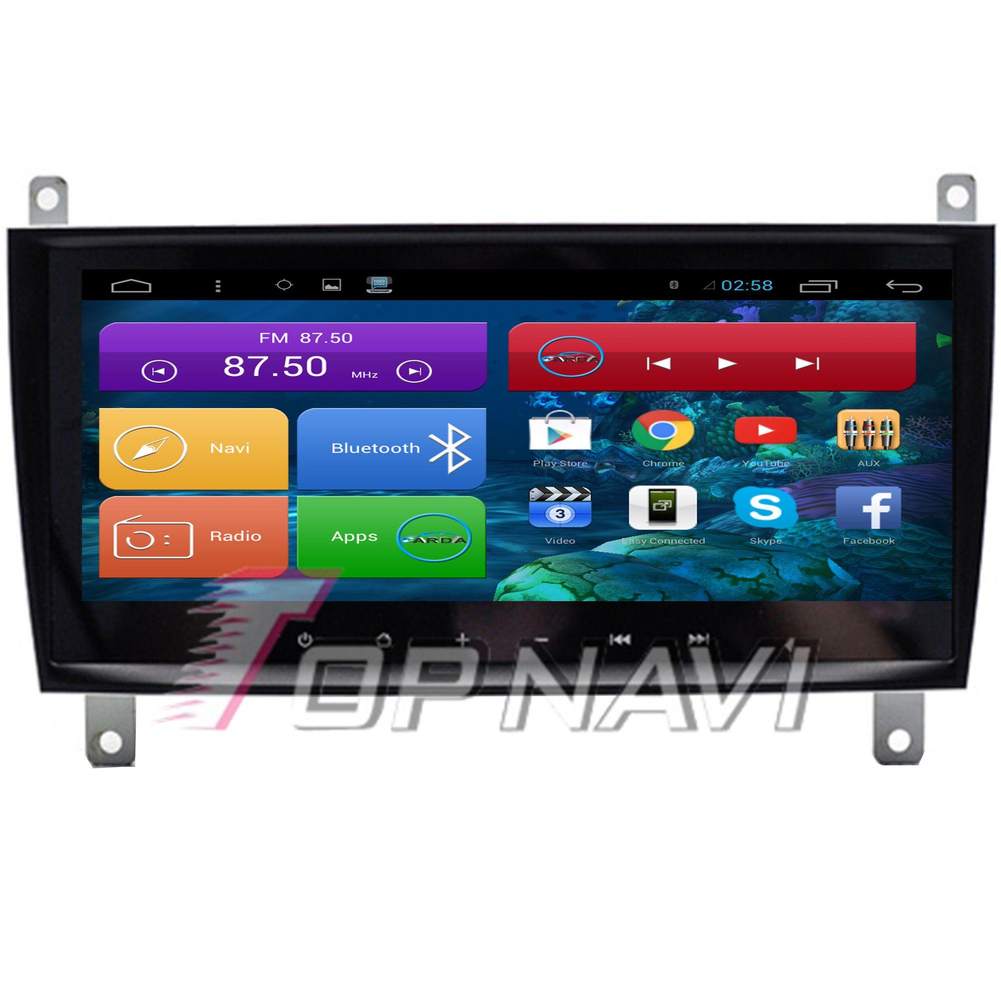 Topnavi 8,8 Quad Core Android 6.0 Auto GPS-Navigation für Benz CLK Autoradio Audio Stereo, KEINE DVD-