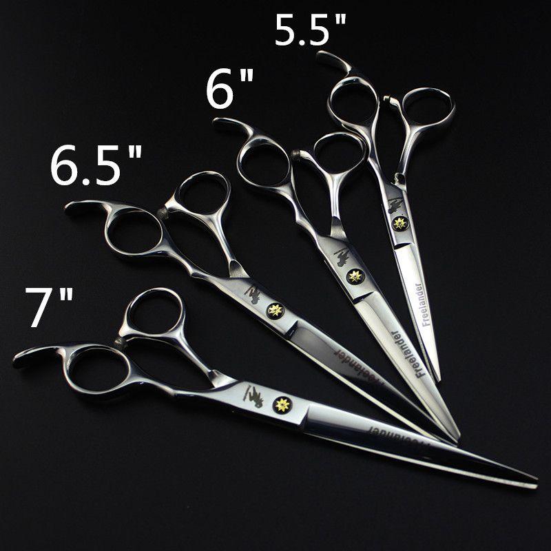 5.5 /6/6.5 /7 pouces pas cher ciseaux de coupe de cheveux humains/cisaillement pour barbiers, ciseaux de coiffure ShearsDroshiipping