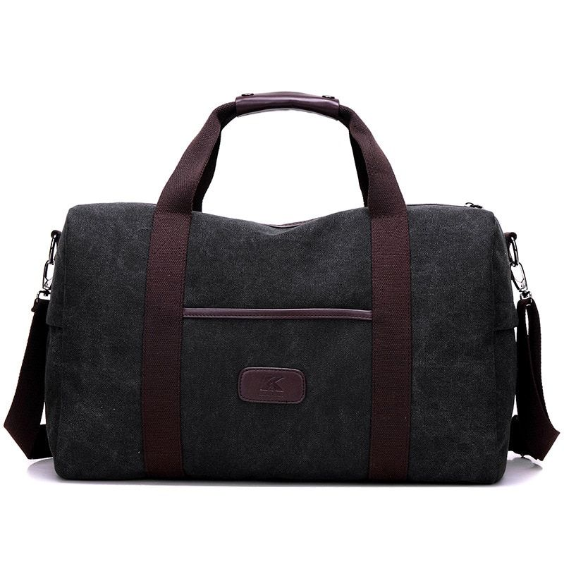 1New Canvas Men Travel Duffle Bags Casual Shoulder Bag Black Wear Resistant Large Capacity Handbag packing cubes malas de viagem