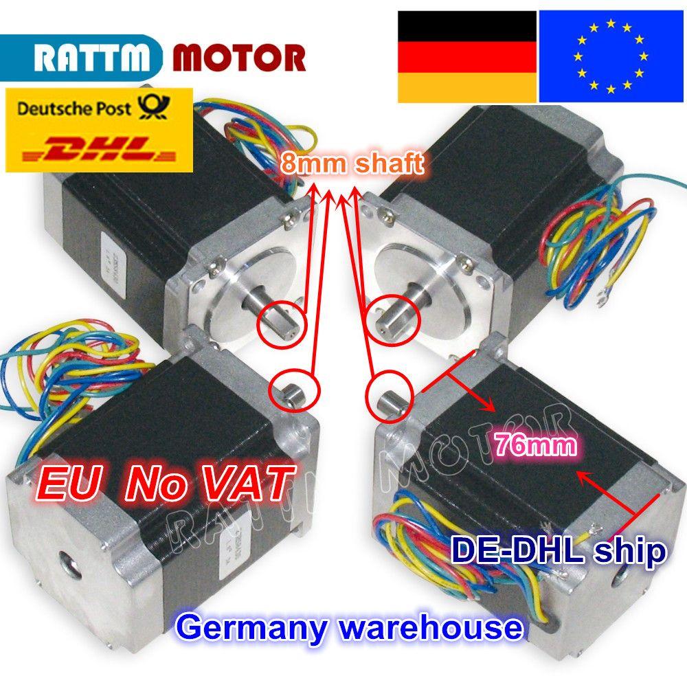DE ship/free VAT 4PCS NEMA23 76mm/ 270 Oz-in/ 3A CNC stepper motor stepping motor for CNC Router/Engraving/Milling machine