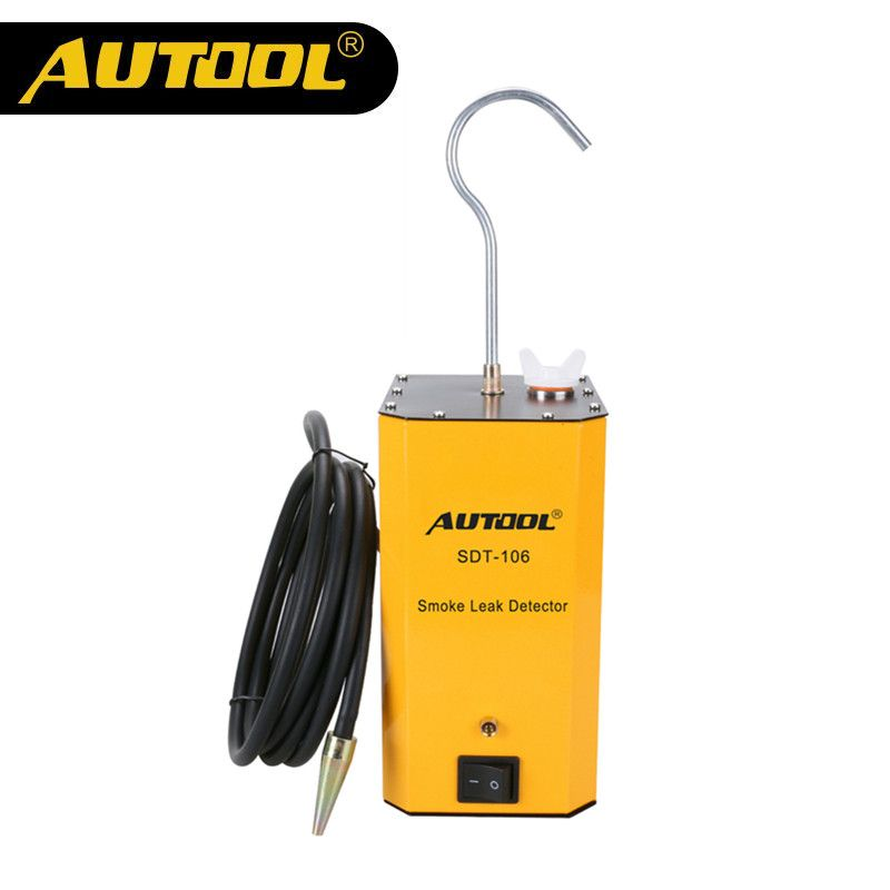 Original AUTOOL SDT-106 Car Smoke Machines For Cars Leak Locator Automotive Diagnostic Leak Detector Car Smoke Device SDT106