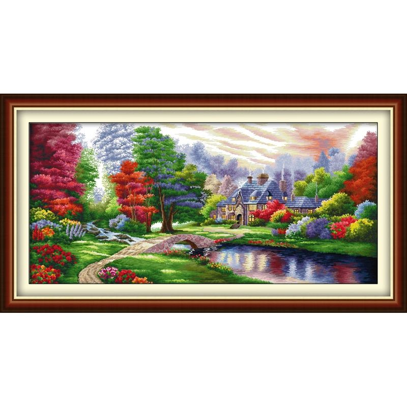Everlasting love Christmas The Ambilight Ecological cotton Cross Stitch 11CT and 14CT Printed New store New year sales promotion