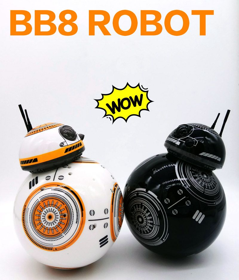 2.4GHZ /40MHZ 8CH upgrade version Star Wars 7 RC BB-8 BB8 remote control rc robot BB 8 intelligent Action Figure toy