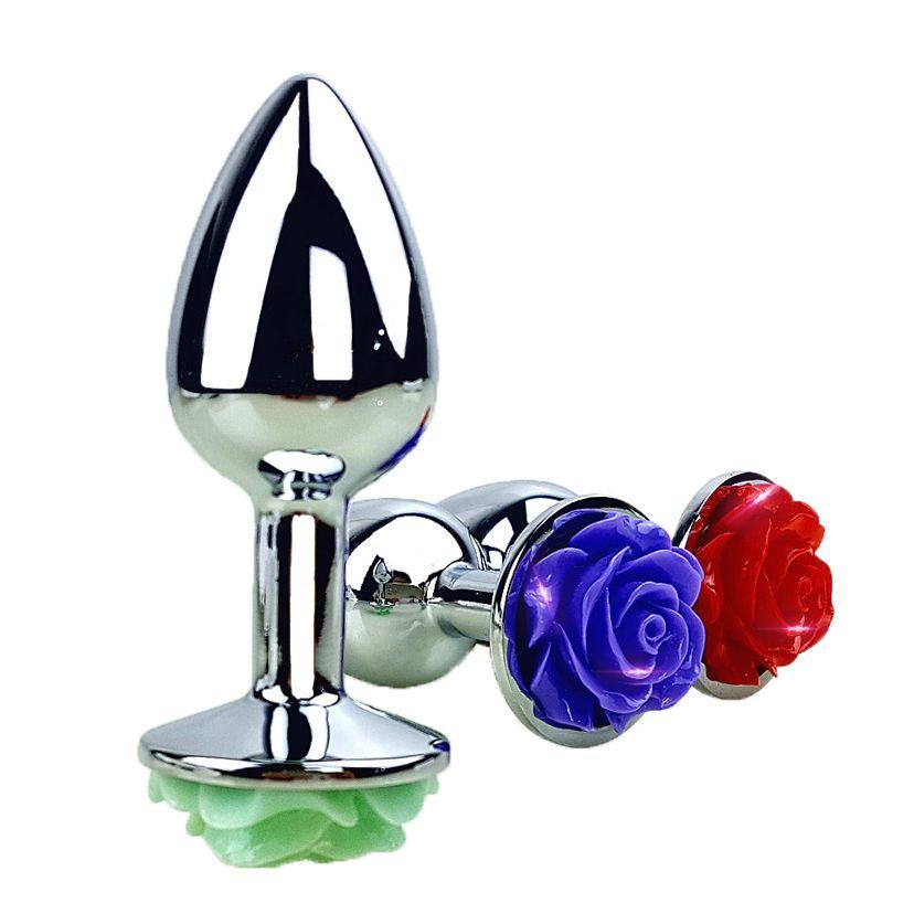 Neue Rosen Metall Anal Stecker Kleine Größe Erotische Anal Sex Spielzeug für Frauen & Männer Sex Spiele Butt Plug für paare Erwachsene Sex produkte