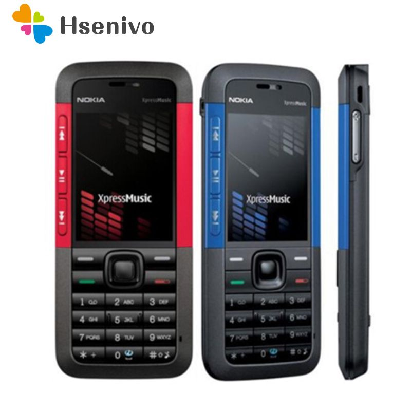 100% Original Nokia 5310 XpressMusic Mobile Phone Refurbished Unlocked Cellphones English Arabic Russian Keyboard