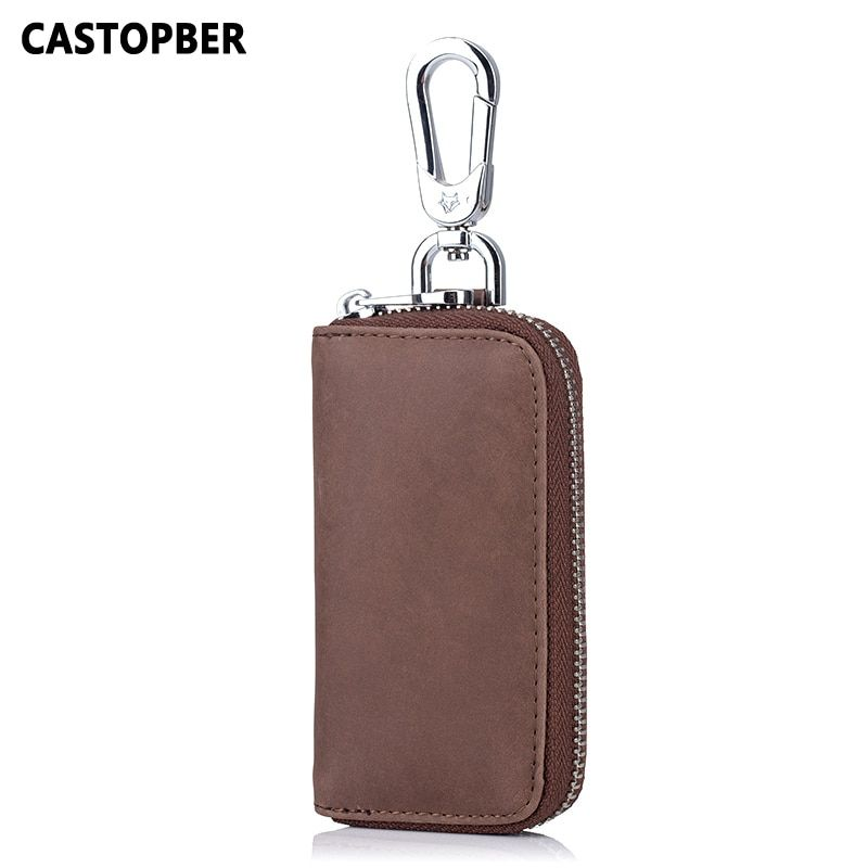Key Holder Men Car Keys Bag Multi Function Key Case Fashion Housekeeper Split Leather Designer Vintage Women Key Wallets Quality