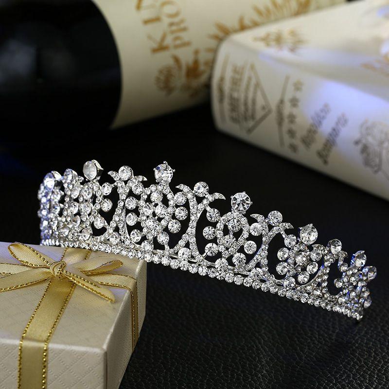 Nouvelle mariée mariage cheveux bijoux cristal diadème mariée couronne cristal accessoires de mode en gros