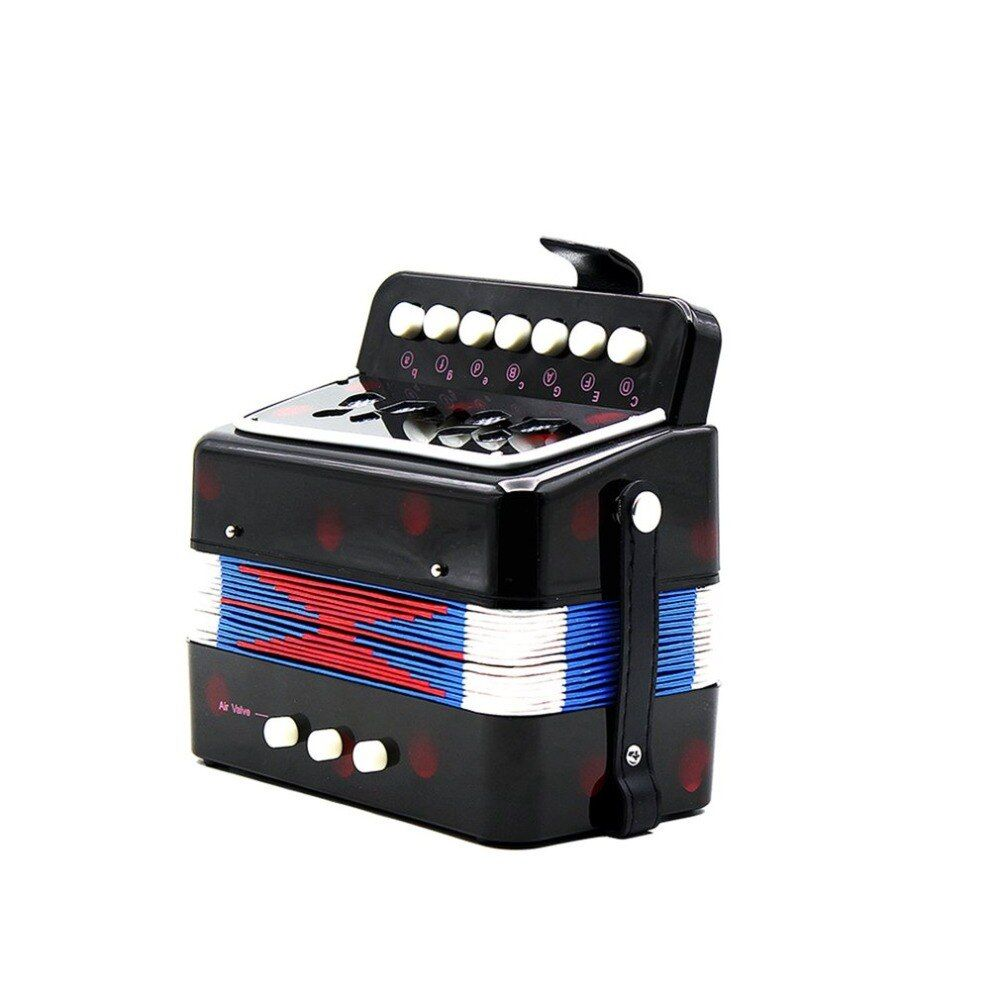 1PCS Mini Kids Accordion 7-Key 3 Bass Educational Childrens Beginner Practice Music Instrument Band Toy