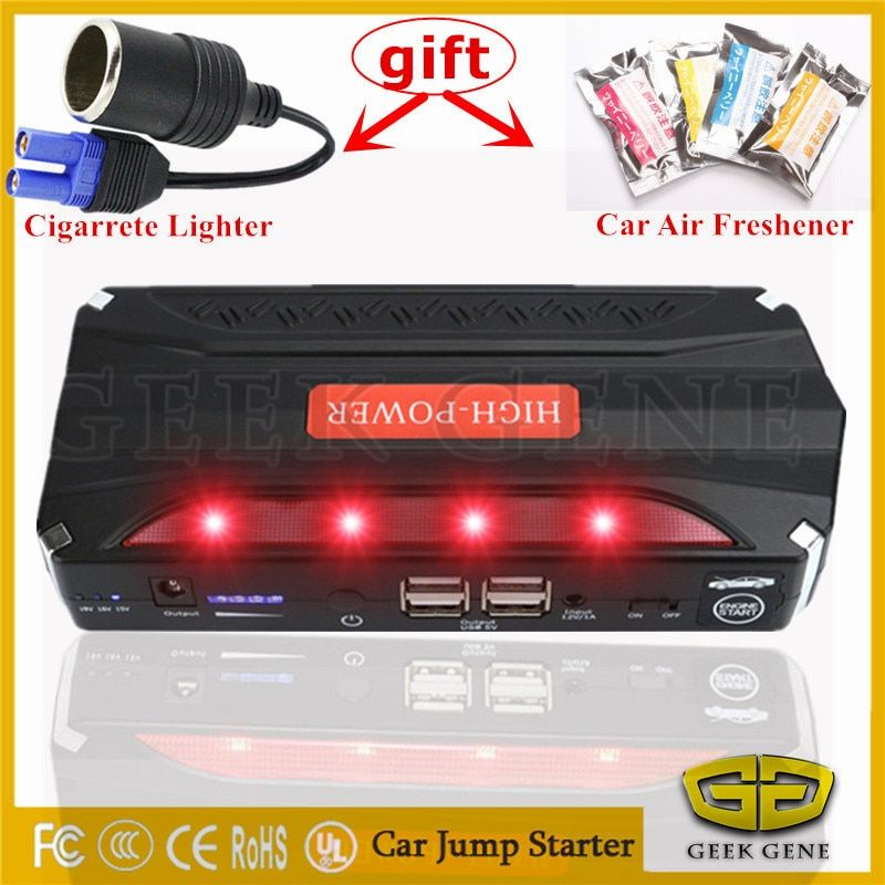 High Power Car Jump Starter Portable 12V Starting Device 4USB Power Bank Mobile 600A Car Charger For Car Battery Booster Buster
